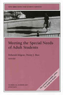 Meeting the Special Needs of Adult Students