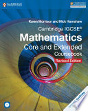 Books - Cambridge IGCSE Mathematics Core And Extended Coursebook With Cd-Rom Revised Edition | ISBN 9781316605639