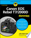 Canon EOS Rebel T7 2000D For Dummies
