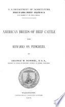 American Breeds Of Beef Cattle With Remarks On Pedigrees