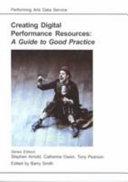 Creating Digital Performance Resources