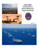 Manuals Combined  USN USMC Commander   s Quick Reference Legal Handbook 2015  2012 and 2009 Editions And The USMC Senior Enlisted Leader Smart Packet  2016