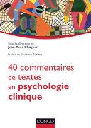 Pdf 40 commentaires de textes en psychologie clinique Telecharger