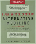 Planning Your Career in Alternative Medicine