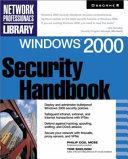 Windows 2000 Security Handbook Book