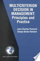 Multicriterion Decision in Management Book
