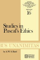 Pdf Studies in Pascal's Ethics Telecharger