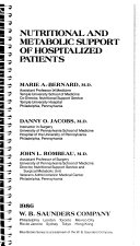 Nutritional and Metabolic Support of Hospitalized Patients