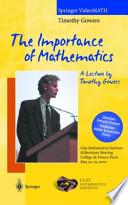 The Importance of Mathematics