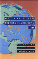 Optical Fiber Telecommunications III Book