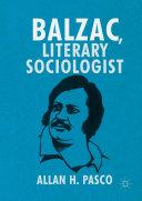 Pdf Balzac, Literary Sociologist Telecharger