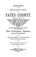 History and Directory of Yates County: Containing a Sketch ...