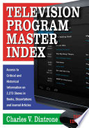 Television Program Master Index