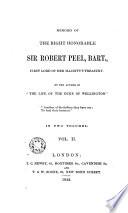 Memoirs of the Right Honorable Sir Peel Robert, 2