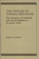 The Nihilism of Thomas Bernhard
