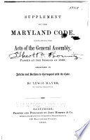 The Maryland Code Public General Laws