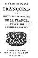 Bibliothèque françoise, ou histoire littéraire de la France