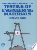 Laboratory Manual on Testing of Engineering Materials Book