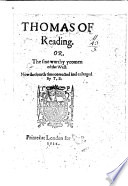 Thomas Of Reading Or The Sixe Worthy Yeomen Of The West