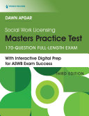 Social Work Licensing Masters Practice Test  Third Edition