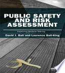 Public Safety and Risk Assessment Book