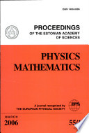 Proceedings of the Estonian Academy of Sciences, Physics and Mathematics