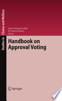 Handbook On Approval Voting