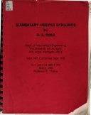 Elementary Vehicle Dynamics Book PDF