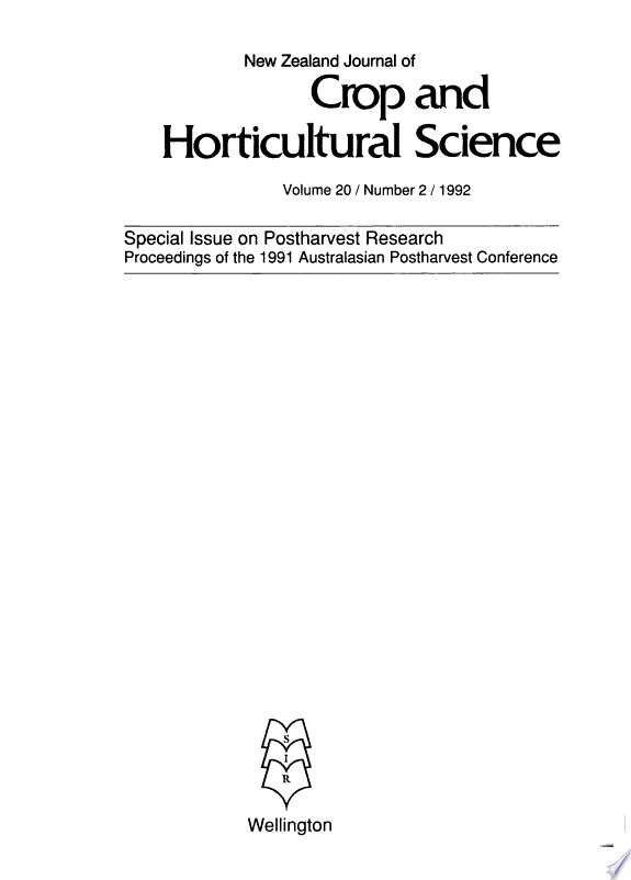 New Zealand Journal of Crop and Horticultural Science/Experimental Agriculture