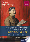 Oxford Aqa History For A Level Revolution And Dictatorship Russia 1917 1953 Revision Guide