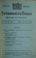 The Parliamentary Debates Official Report  Book PDF