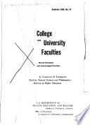 College and University Faculties