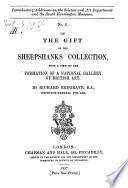 On the Gift of the Sheepshanks Collection Book