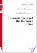 Grassroots sport and the European Union