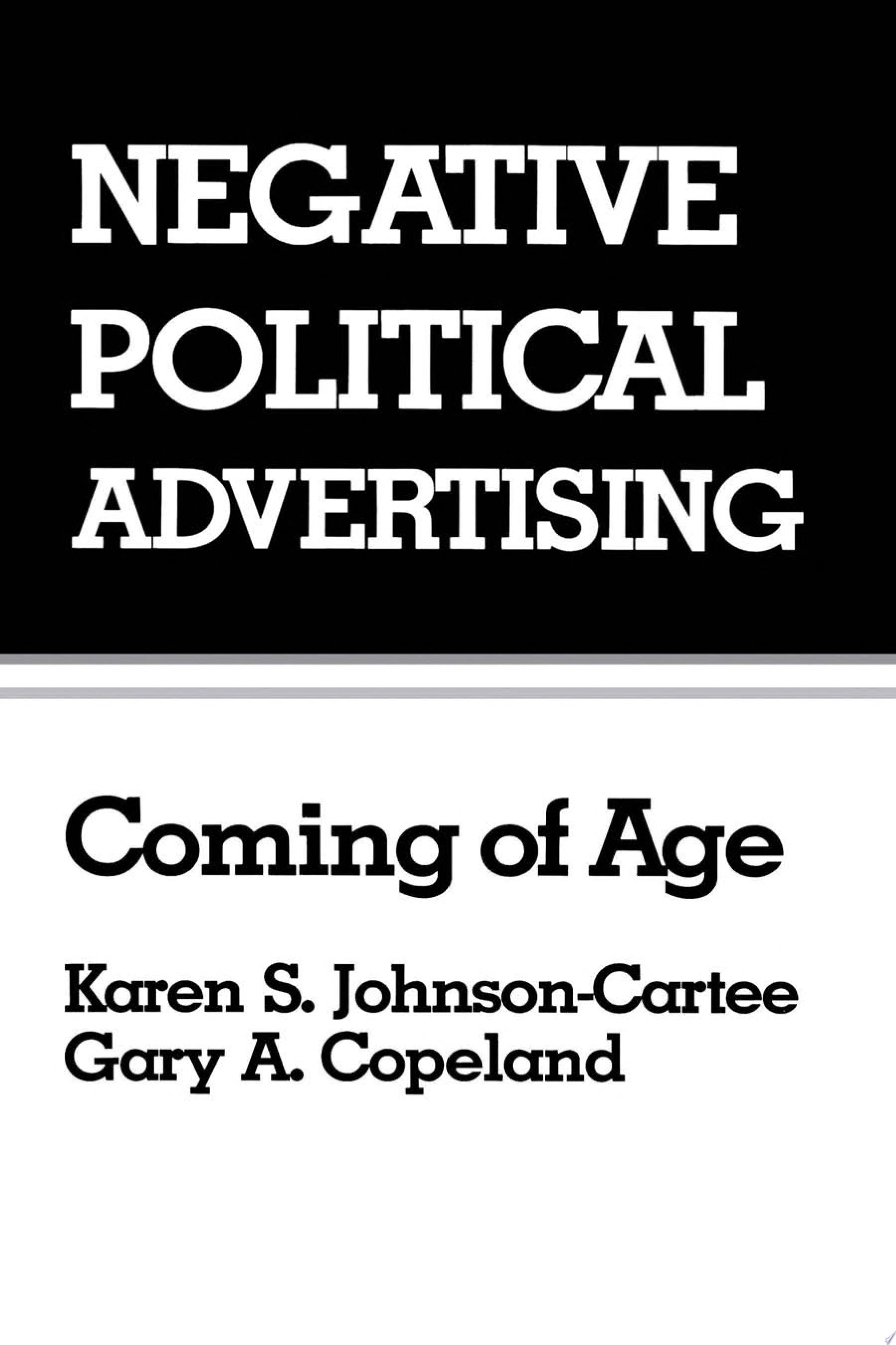 Negative Political Advertising