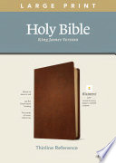 KJV Large Print Thinline Reference Bible, Filament Enabled Edition (Red Letter, Genuine Leather, Brown)