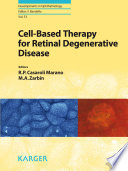 Cell Based Therapy for Retinal Degenerative Disease Book