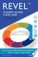 Revel for a Concise Public Speaking Handbook -- Access Card