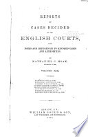 Reports of Cases Decided by the English Courts [1870-1883]