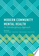 Modern Community Mental Health Book