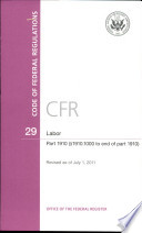 Code Of Federal Regulations Title 29 Labor Pt 1910 Sec 1910 1000 End Of Pt 1910 Revised As Of July 1 2011