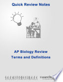 Advance Placement Biology Quick Review Terms Definitions