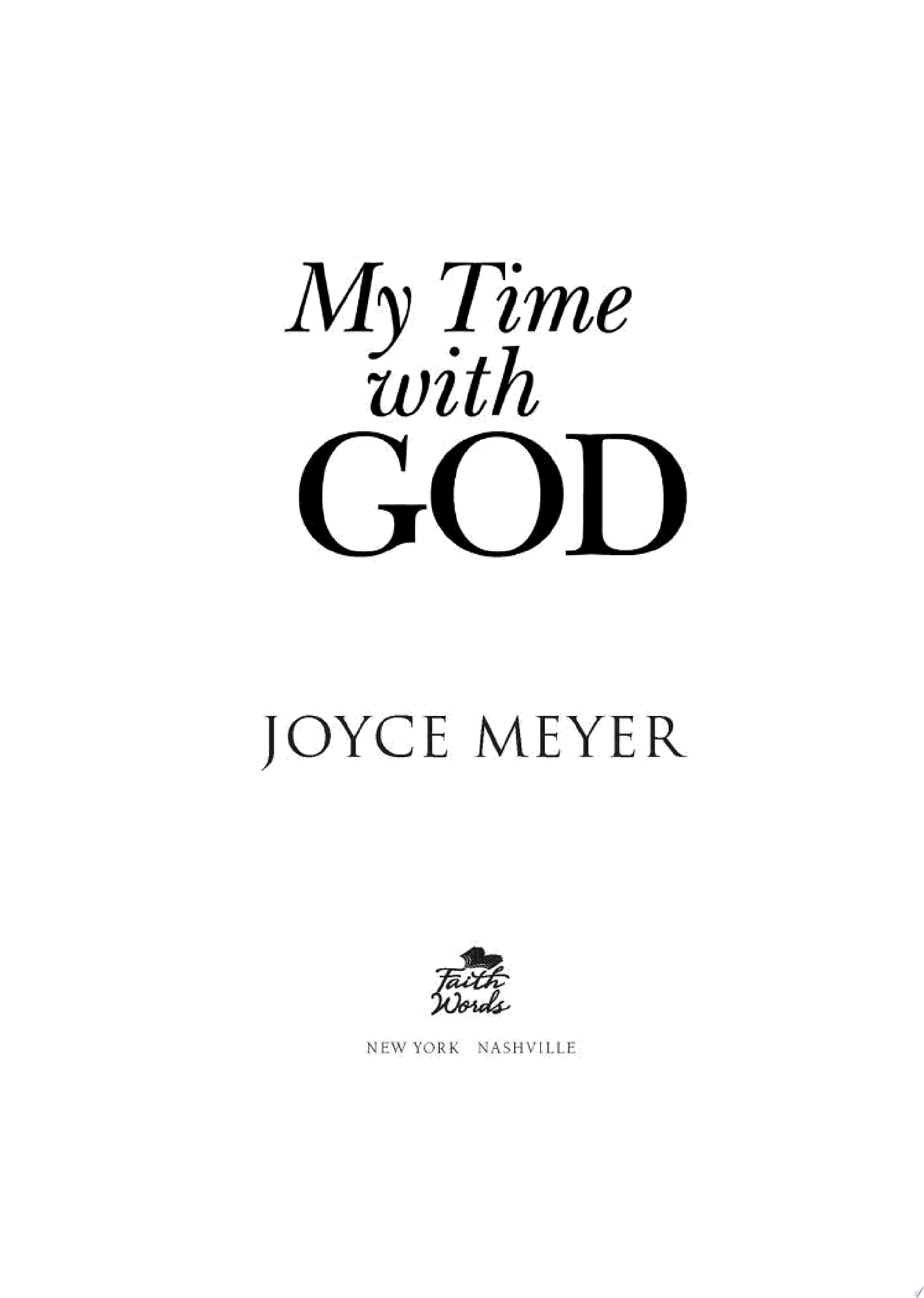 My Time with God
