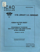 Proceedings of the Second ICAO Flight Safety and Human Factors Global Symposium