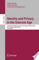 Identity and Privacy in the Internet Age