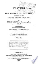 Travels to Discover the Source of the Nile  in the Years 1768  1769  1770  1771  1772    1773  By James Bruce of Kinnaird  Esq  F R S      To which is Prefixed  a Life of the Author  Vol  1   7