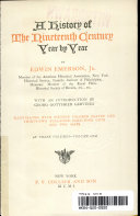 A History of the Nineteenth Century Year by Year