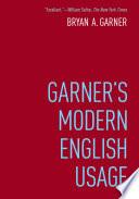 Garner's Modern English Usage