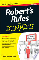 Robert s Rules For Dummies Book PDF