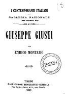 Giuseppe Giusti galleria nazionale del secolo 19 per Enrico Montazio